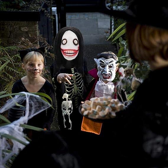 Máscara de Miedo de Halloween Máscara Jeff Killer con Pelo ...