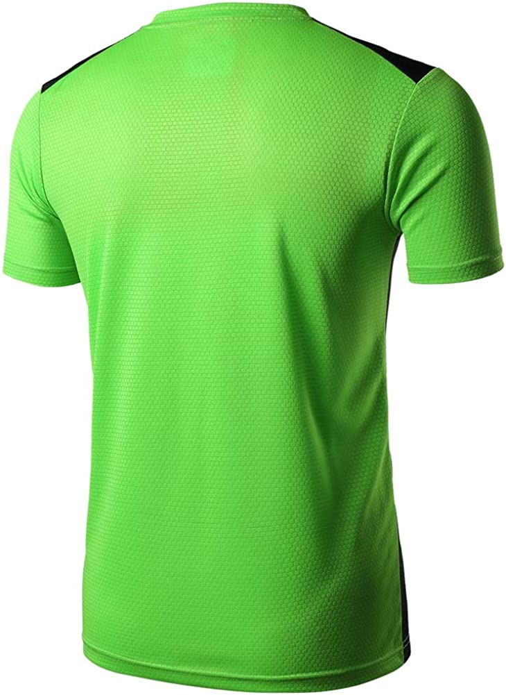 TuGui Mens Sports Running Training Short Sleeve Dry Crewneck T-Shirts