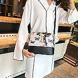 Clearance Sale! ZOMUSAR Women Fashion PU Leather Zipper Small Deer Splice Handbag Shoulder Shell Bag Shiny Crossbody Tote Bag (White-B)