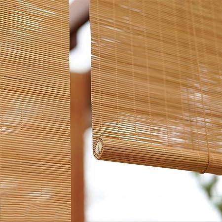 Persianas enrollables ZLI Gazebo para Patio con Jardín Persiana Exterior Enrollable, Bambú con Cortina Plana, 60cm/80cm/90cm/100cm/120cm de Ancho (Size : 140×140cm): Amazon.es: Hogar