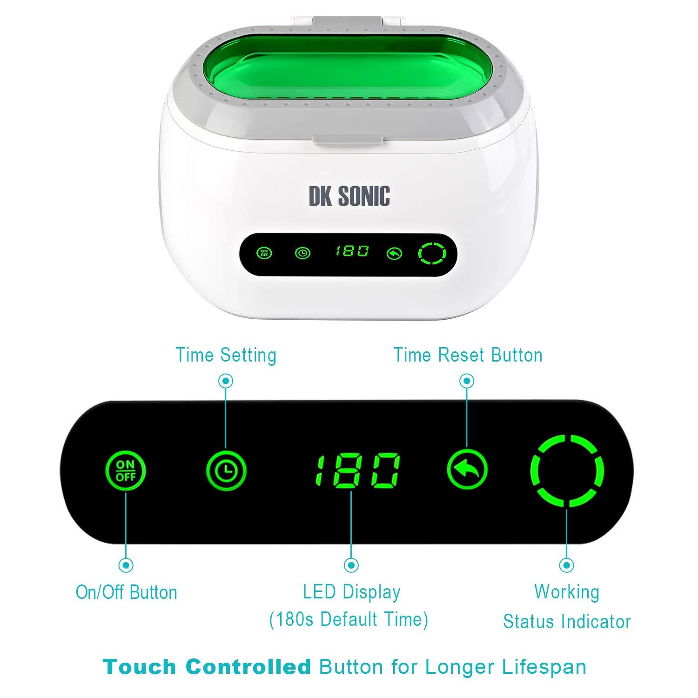 DK SONIC Digital House limpiador ultrasonidos 600mL 42KHz Máquina de limpiador ultrasonico con Timer Basket para joyería Monedas Relojes a prueba de agua ...