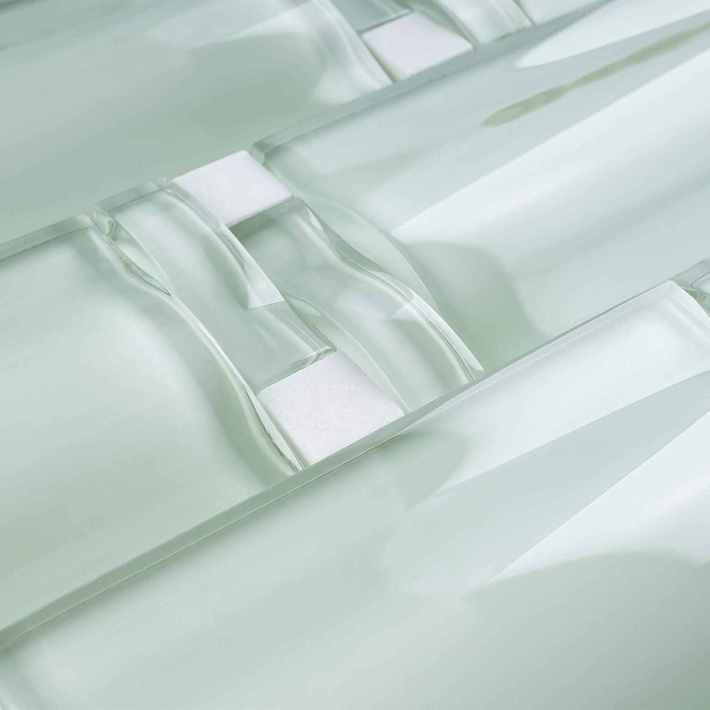 TBAMG-01 Soft Mint Arched Over Size Glass Mosaic Tile-Kitchen and Bathroom Backsplash Tile Wall Tile 10 Sheets