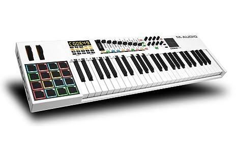 M-Audio Code 49 - Controlador USB-MIDI con 49 teclas, 16 pads