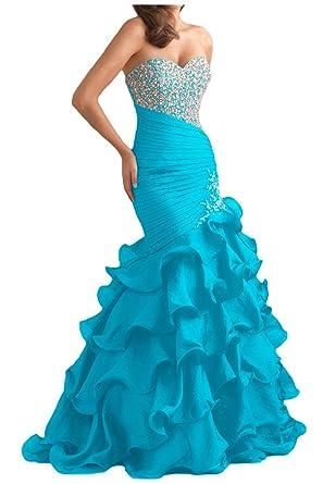 Gorgeous Bride Glamour Herzform Mermaid Organza Kristall Ballkleid Prom  Kleid Abendmode: Amazon.de: Bekleidung
