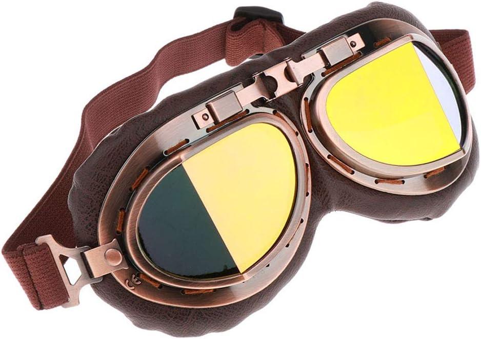 UV-Schutz Verstellbar Winddicht perfk Motorradbrille Fahrradbrille Schutzbrille mit Elastische Gurt Anti-Beschlag