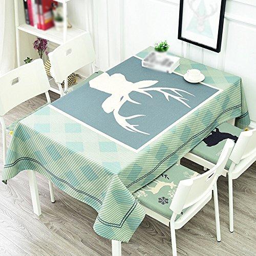 D 100140cm TLMYDD Nordique cerf épais coton lin restaurant longue table nappes voiturerée nappes à la maison Nappe (Couleur   D, taille   100  140cm)