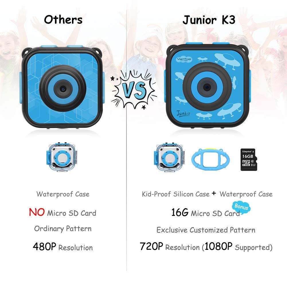 Amazon com: VanTop Junior K3 Kids Camera, 1080P Supported Waterproof