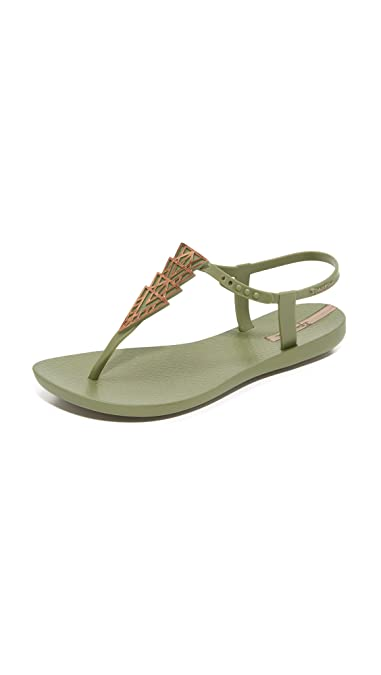 Ipanema Women's Deco Sandals, Green/Bronze, 5 B(M) US