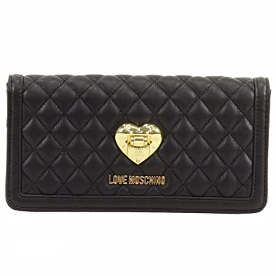 21dd8c6b5a8e Image Unavailable. Image not available for. Color  Love Moschino Women s  Black Quilted Leather Clutch Shoulder Handbag