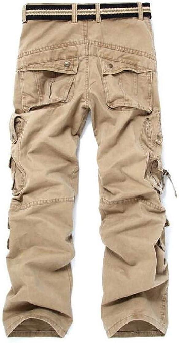 Joe Wenko Mens Fashion Cargo Multi Pockets Sport Trousers Outdoor Pants