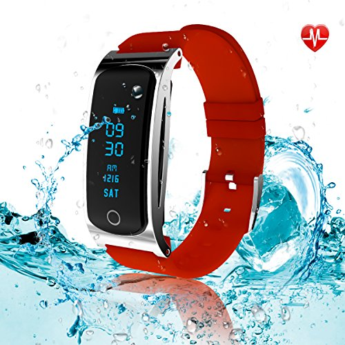 LEKANG Fitness Tracker, Activity Tracker with Wrist-Based Heart Rate Monitor, Water Resistant Smart Band with Step Tracker Sleep Monitor Calorie Counter Notification Alerts for Android iOS (Band Sportsmens Watch)