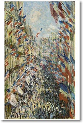 (Claude Monet - La rue Montorgueil a Paris - Celebration of June 30, 1878 - NEW Fine Arts Poster)