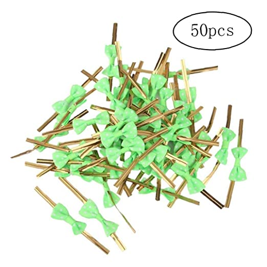 Grifri Torsión Corbata Pajarita 50pcs Caramelo Colores Verde ...