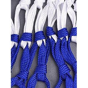 Frienda 2 Pack Heavy Duty Basketball Net Fits Standard Indoor or Outdoor Basketball Hoop, 12 Loop (Red/White/Blue)