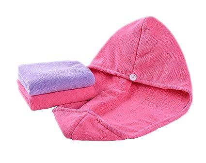 Juego de 3 gorras y toallas para cabello seco súper absorbentes de ...