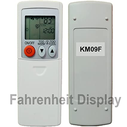 Replacement For Mitsubishi Electric Mr Slim Air Conditioner Remote Control  KM09F (Display In Fahrenheit Only