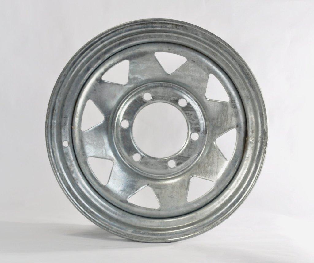 15x6 6 Lug Hole Bolt Wheel Galvanized Spoke Design Trailer Rim Wheel 15 x 6 in