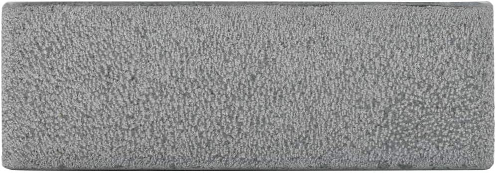vidaXL /Évier 45x30x15 cm Pierre Naturelle Noir Lavabo Salle de Bain Int/érieur