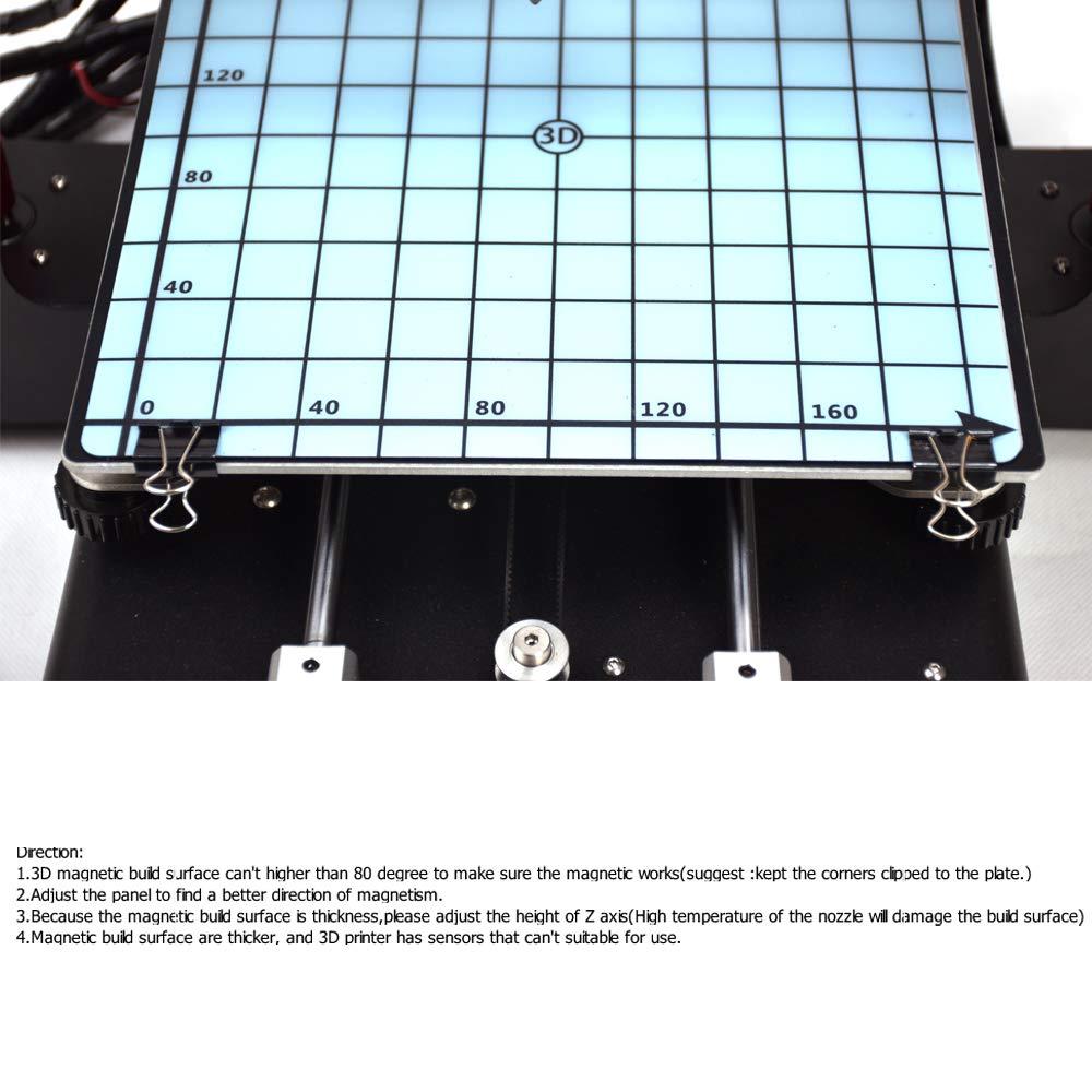 la surface de bande magn/étique construction lit chaud autocollant pour imprimante 3d construire programme lit chaud anet a8 anycubic 220x220 wanhao i3