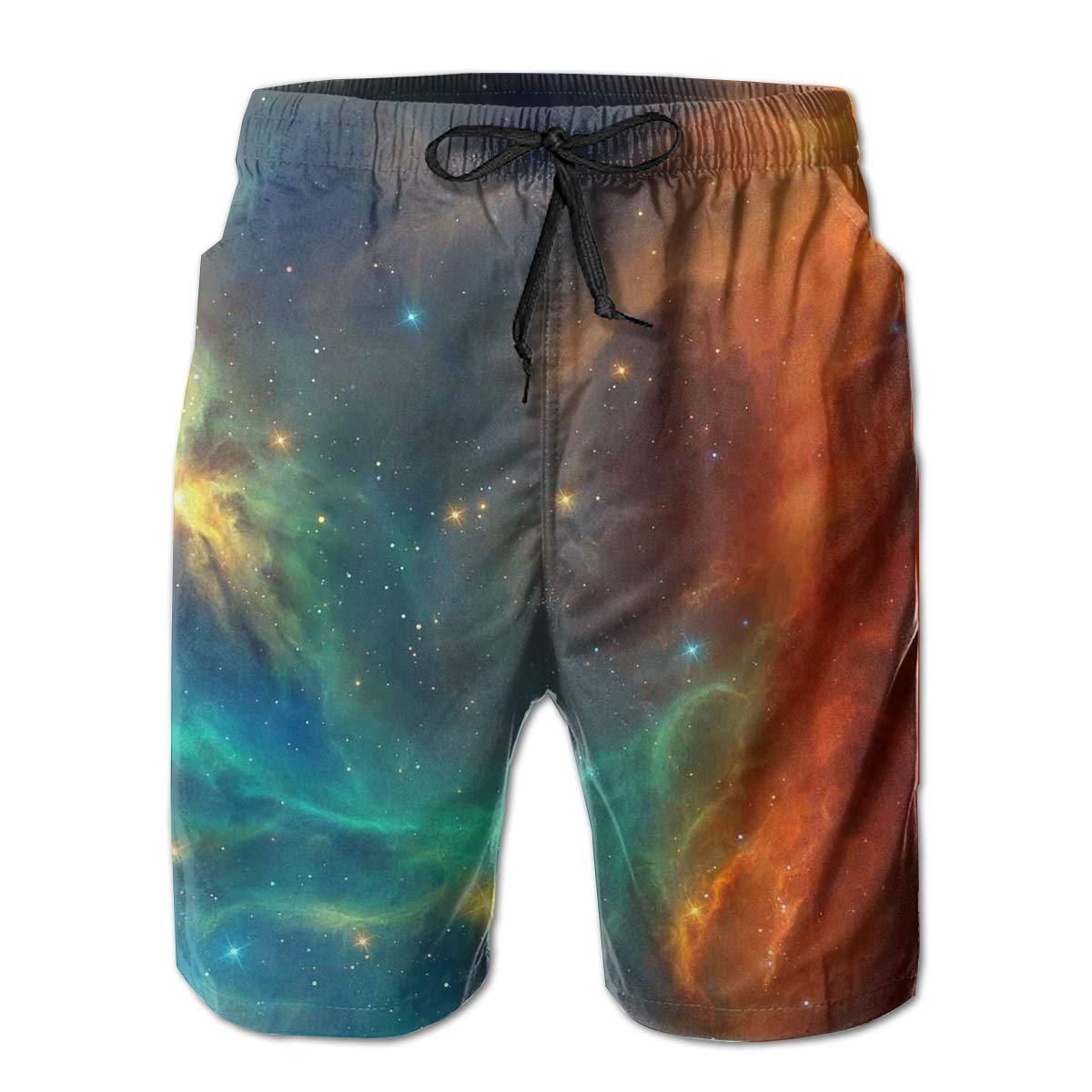 Space Tyler Worlds Star Art Nebula Creates Nature Live Mens Swim Trunks Board Beachwear Casual Beach Shorts for Men
