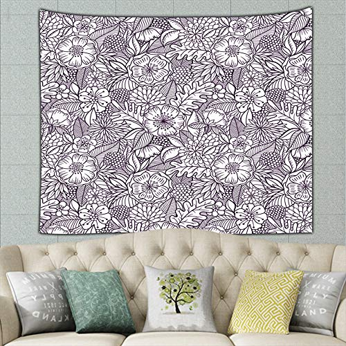 best bags Floralmodern Tapestry Bohemian Tapestry Hippie Tapestry Bedroom Living Room Dorm Art Wall Hanging 90 X 60 Inches