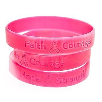Breast cancer awareness uk wrist bands