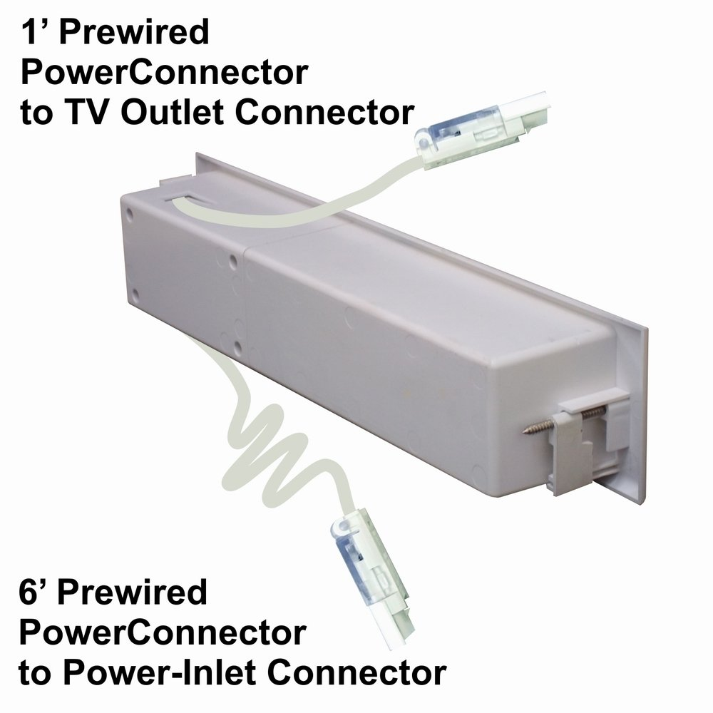 PowerBridge TWO-CK Dual Outlet for TV and Sound-Bar Recessed In-Wall Cable Management System Kit (TWOSB-CK) by PowerBridge Solutions (Image #9)