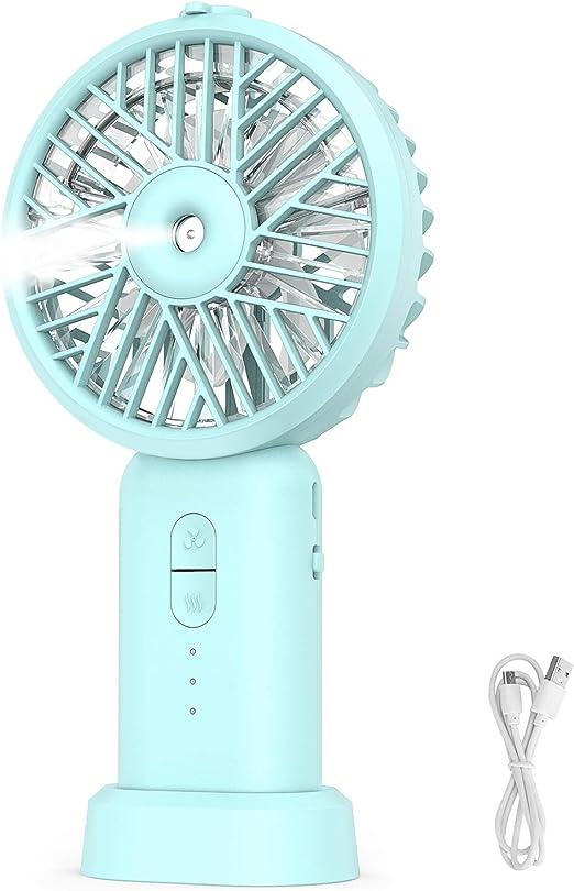 Allkeys Ventilador de Mano Personal, Funciona con batería, Mini ...