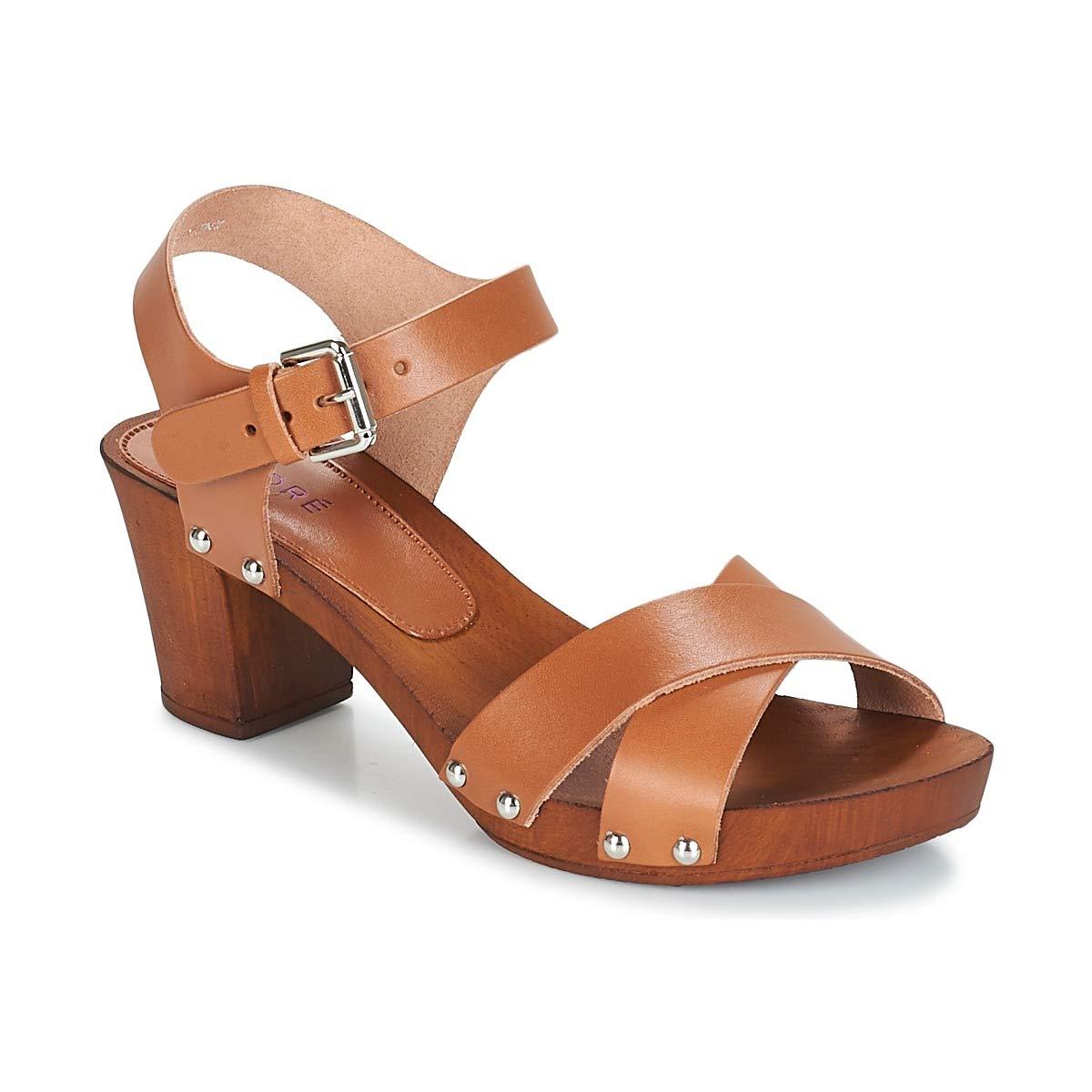 André Bongo Sandalen Sandaletten Damen Braun Sandalen Sandaletten  | Starke Hitze- und Hitzebeständigkeit