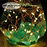 LiyuanQ Solar String Lights, 2 Pack 100 LED Solar