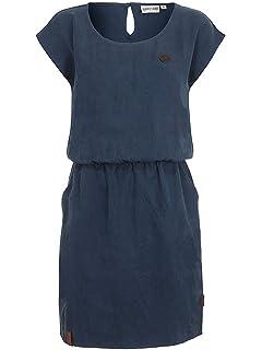 Lässiges Kleid von Naketano mit langen Ärmeln mit roten