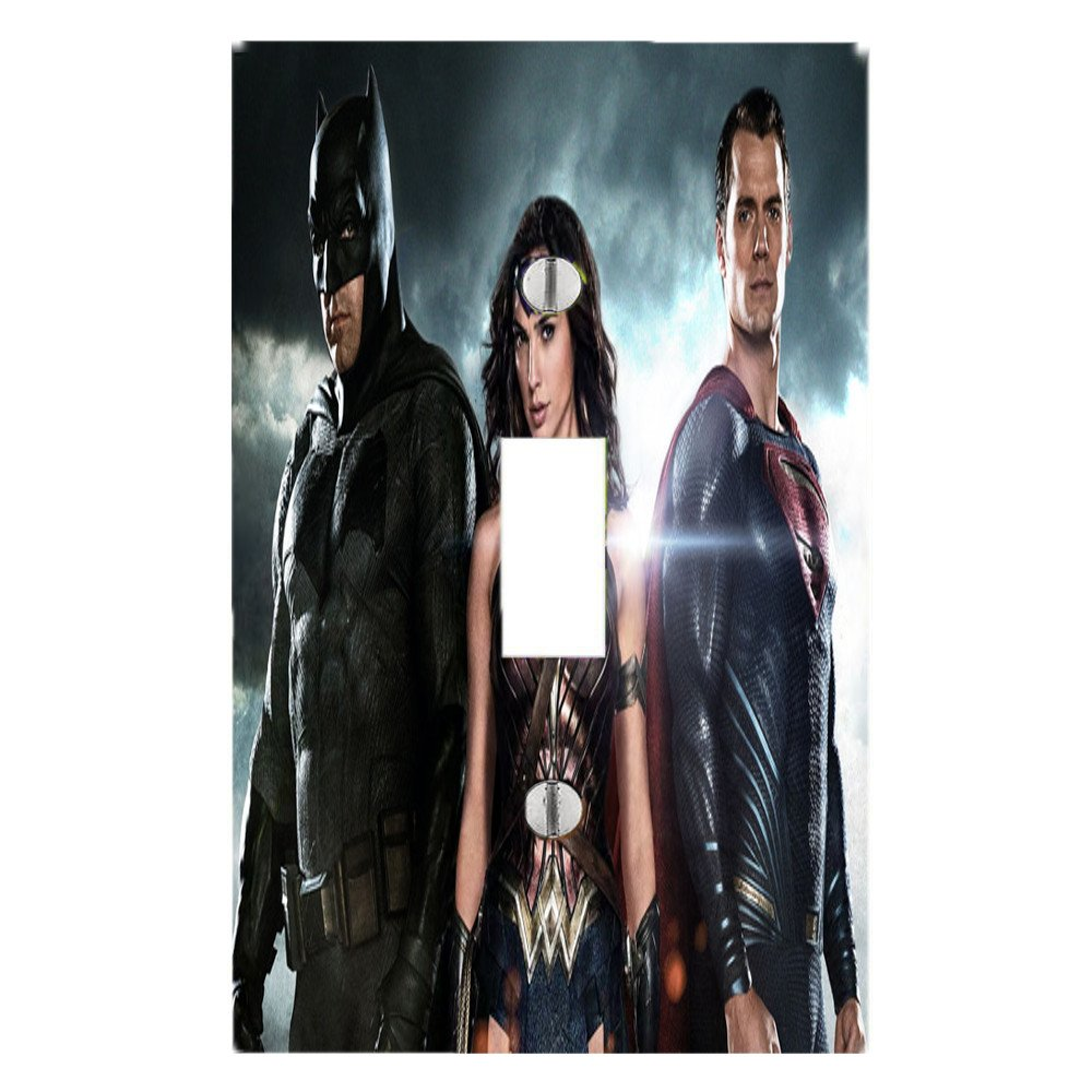 Got You Covered bmset Batman V Superman Dawn of Justice Light Switch Cover or Outlet Featuring Wonder Woman Batman & Superman, 3 Piece