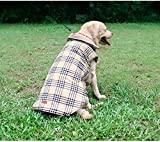Cheap Doglemi New Checked Water Repellent Winter Apparel Pet Dog Jacket Clothing (Yellow, XL)