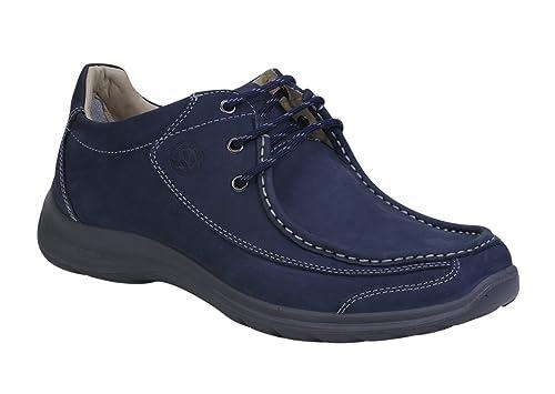 Woodland Men's Navy Leather Sneakers