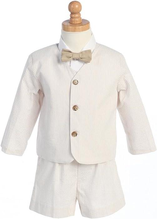 525ff6551d1 Amazon.com    9-G8191KH-3T-Eton Seersucker Suit- Khaki Stripes w Jacket