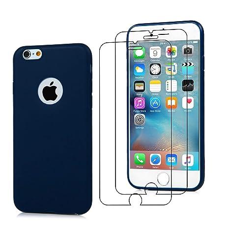 3X COVER IPHONE 7 Silicone Custodia 8 rosa + verde chiaro + blu