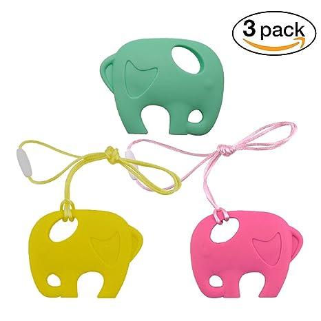 INCHANT silicona dentición del bebé collar Chew collar ...