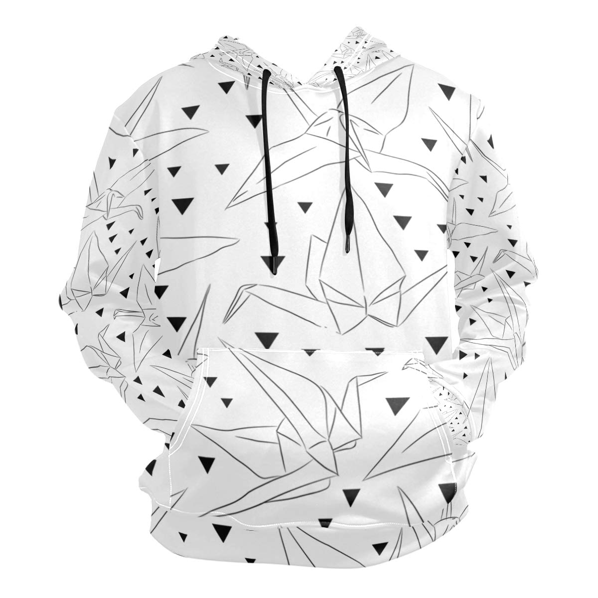 graphic regarding Origami Crane Instructions Printable called : Uni 3D Eastern Origami Cranes Print Hoodies
