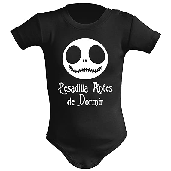 ClickInk Body bebé unisex. Parodia Pesadilla antes de ...
