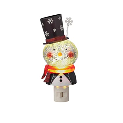 """Midwest Gloves 7.25"""" Christmas Whimsy Snowman with Top Hat Shimmer  Ball Bubble Night Light - Amazon.com: Midwest Gloves 7.25"""