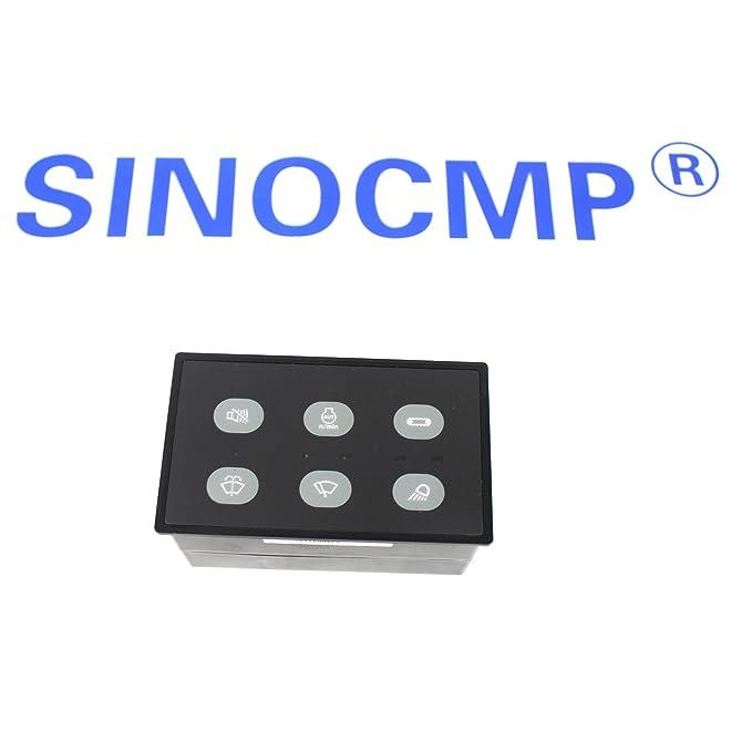 sinocmp excavadora 163 - 6701 1636701 cabeza lámpara y controlador limpiaparabrisas para Caterpillar E320 C 320 C excavadora partes, 3 Meses de Garantía): ...