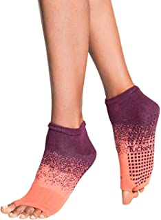 Amazon.com : Gaiam Grippy Toeless Yoga Socks for Extra Grip ...