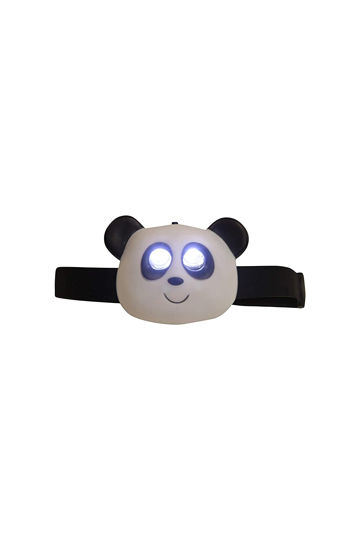 Mountain Warehouse Linterna con dise/ño de Panda Correa Ajustable para la Cabeza 2 LED Ideal para Camping y Viajes Duradera