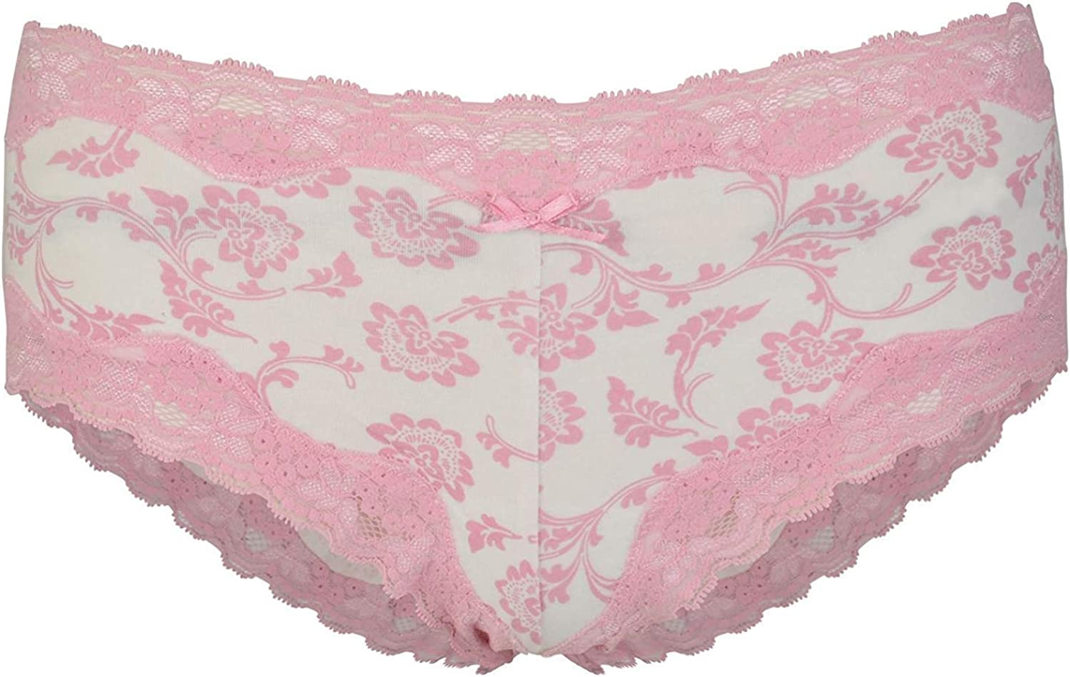 4 ladies ex store cotton and lace blue short briefs for £5.00