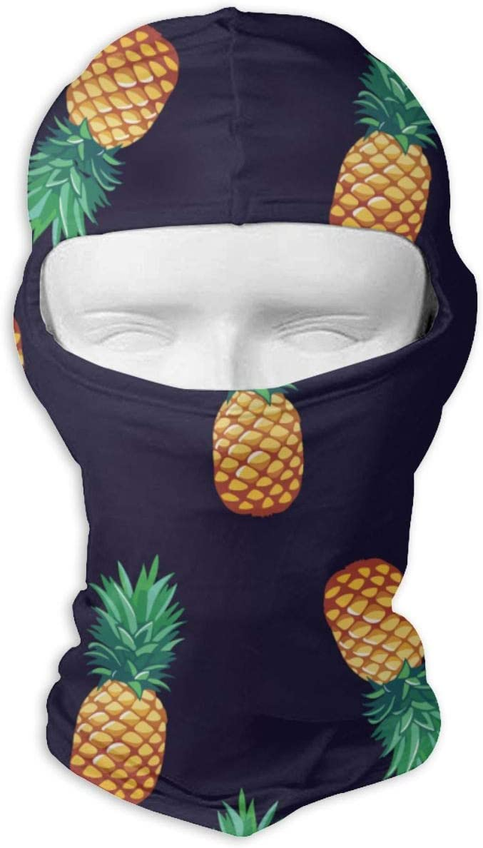 Pineapple Balaclava Full Face Mask Hood Headcover Cycling Sports Mountaineering Mask Dual Layer Cold