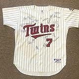 Sports Memorabilia 1991 Minnesota Twins World Champions Team Signed Jersey w/Puckett - 20 sigs - Autographed MLB Jerseys