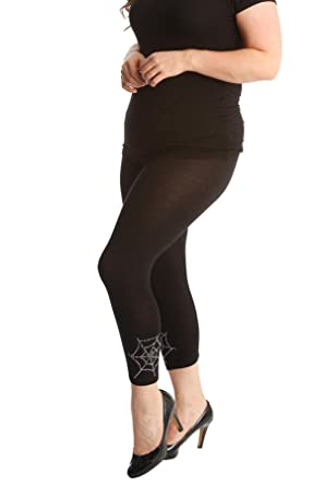 New Womens Leggings Plus Size Ladies Pirate Skull Print Full Length Nouvelle