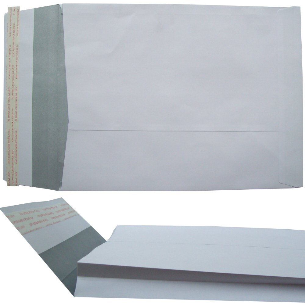 Pack 125 5 Star Office Envelopes Window Peel and Seal Gusset 25mm C4 White