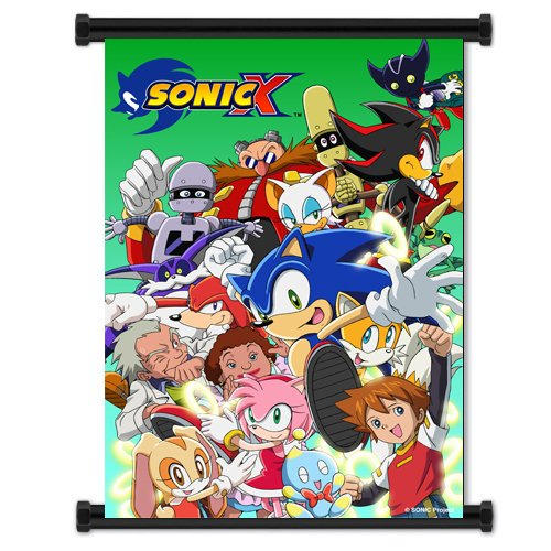 Sonic X Anime Fabric Wall Scroll Poster  Inches. -Sonic X-1