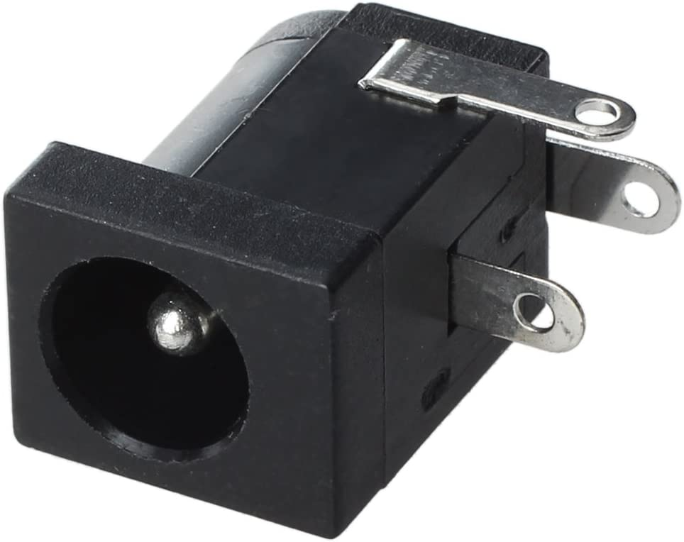REFURBISHHOUSE 10 Stk Stecker DC Jack 2.1mm Buchse Barrel Typ Leiterplattenmontage
